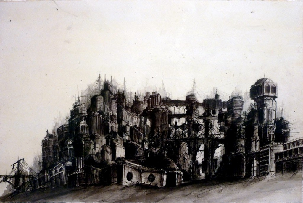 """2010, 13"""" X 18"""", ink wash and ballpoint pen on paper *no longer available *"""