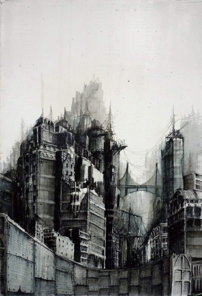 "2011, 6 1/2"" X 9 1/4"" ink wash, ballpoint pen on paper *no longer available*"